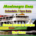 Montenegro Lines Schedule and Fare: Dinagat Island to/from  Surigao