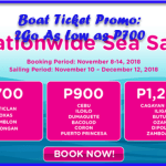 Boat Ticket Promo: 2Go For As Low As P700