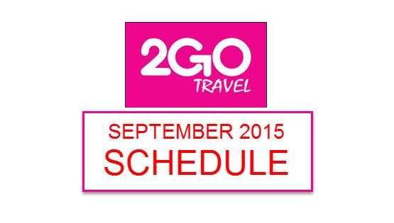 2Go Travel Schedules 2015 Manila to Cebu