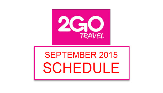 2Go Travel Schedules 2015 Manila to Cebu