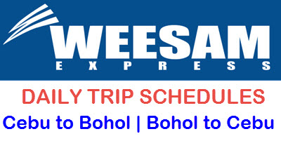 Cebu to Bohol Daily Schedule Weesam Express