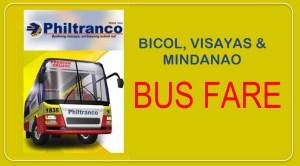 Philtranco BUS FARE to Bicol, Visayas, Mindanao Destinations