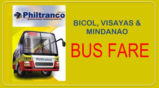 Philtranco Bus Fare and Ticket Prices