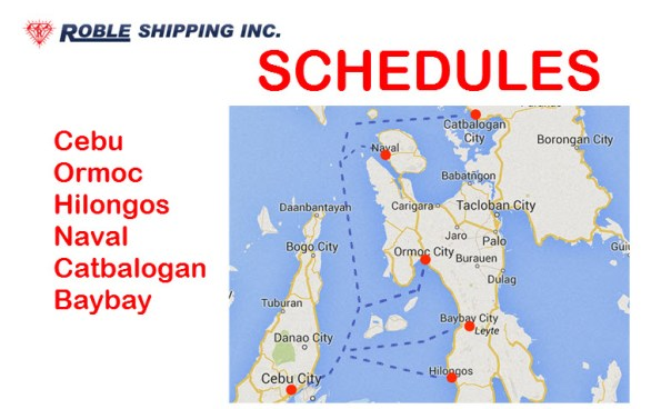 Roble Shipping Schedule and Routes