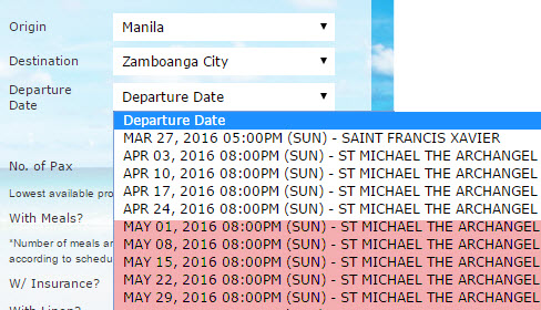 Superferry Schedule Manila to Zamboanga