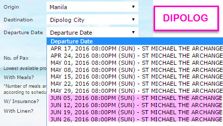 2Go Manila to Dipolog Schedule