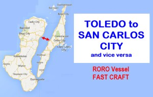 Fast Craft and RORO Toledo to San Carlos City and vice versa: Rates and Schedules