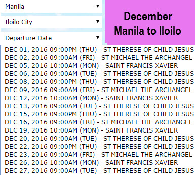 December 2Go Manila to Iloilo