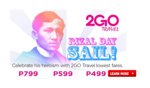 New Promos of 2Go Travel for January, February, March 2017