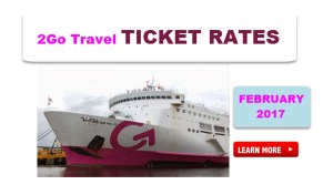 2017 2GO Ticket Prices and Rates  – February