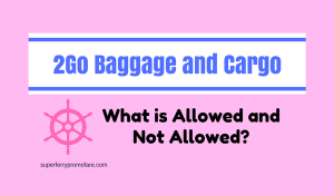 What are the Allowed and Not Allowed Baggage on 2Go Travel?