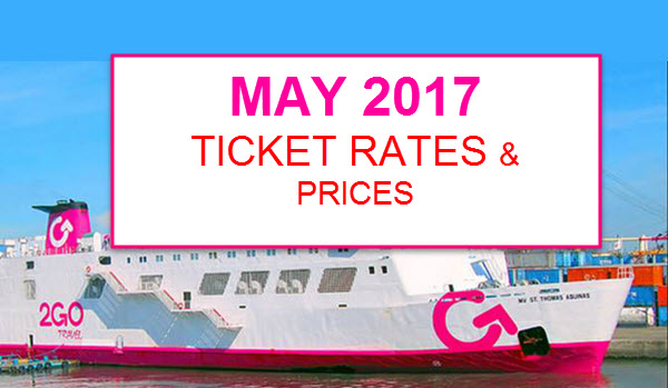 2Go Rates for May 2017