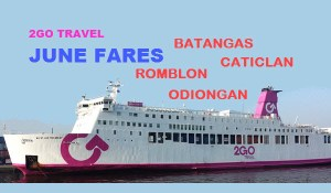 June 2017 | 2GO Rates Batangas, Caticlan, Odiongan, Romblon and Roxas