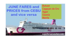 2go fares from cebu to ozamiz iligan butuan cdo manila