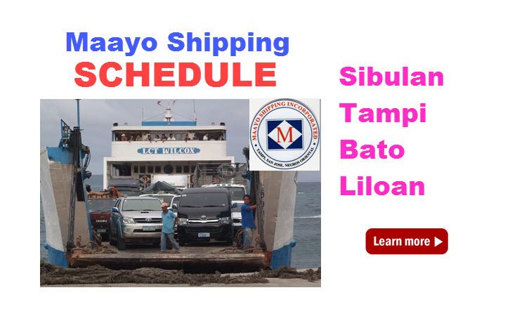 maayo shipping schedule