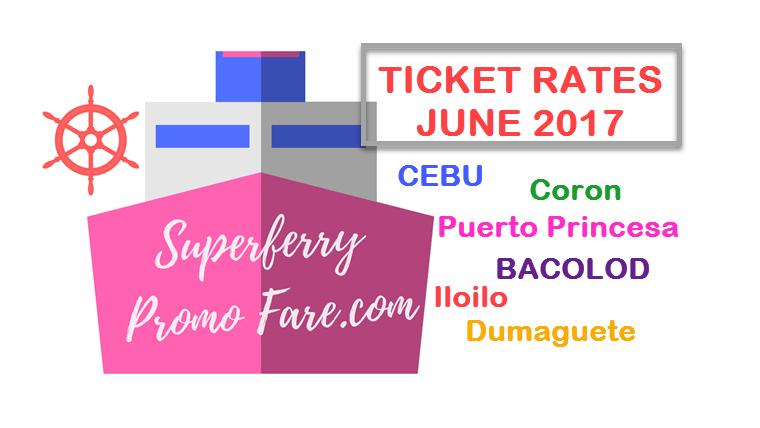 2Go ticket price June 2017