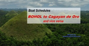 Boat Schedules Bohol to Cagayan de Oro and vice versa Cokaliong | Trans-Asia | Lite Ferries