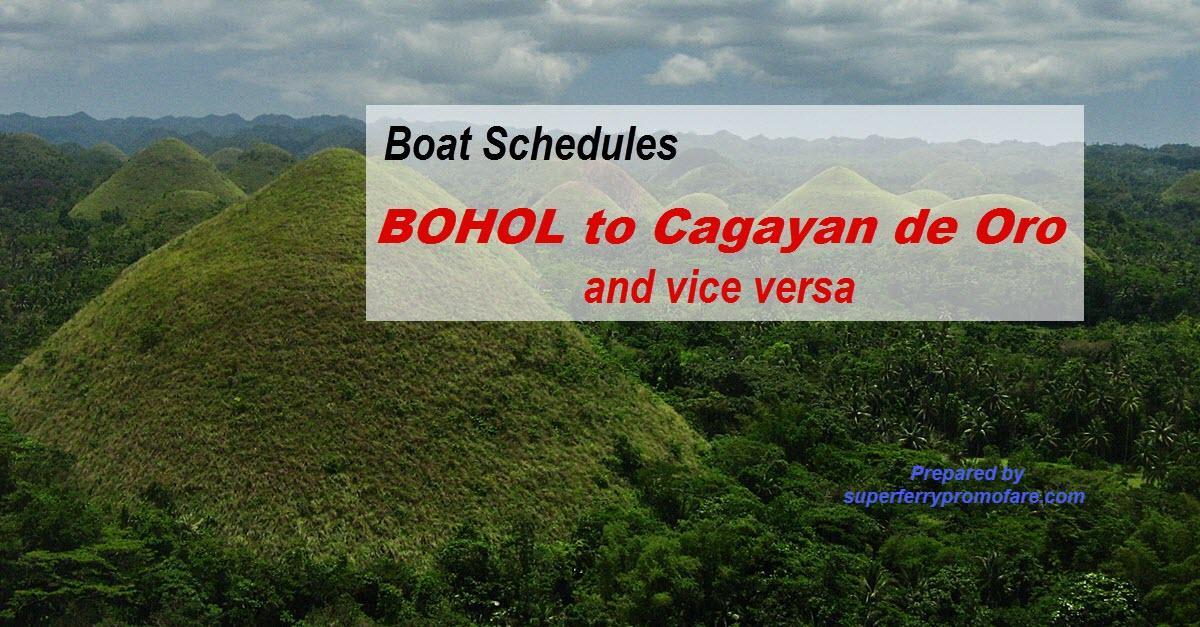 boat schedules bohol to cagayan de oro