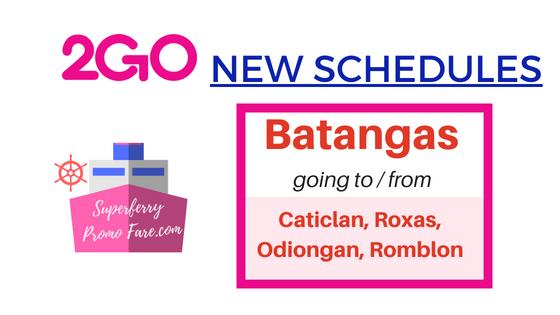 2go batangas new schedules