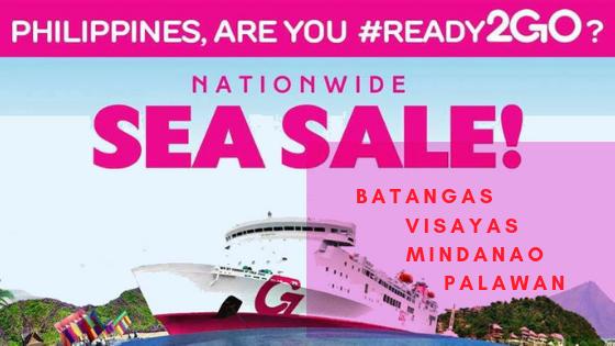 2go nationwide sea sale 2018