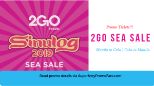 2GO SEA SALE Cebu January 2019