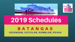 2go batangas schedules 2019