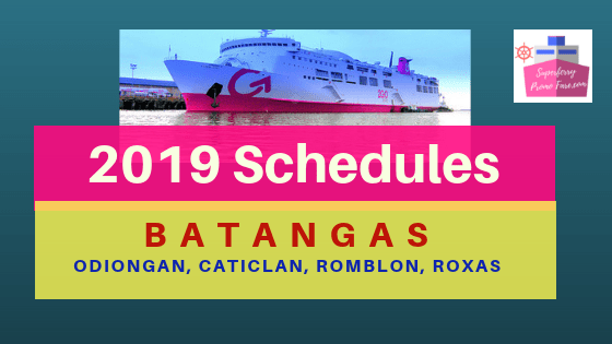 2019 Update ↪ 2GO BATANGAS ROUTES SCHEDULES and FARES