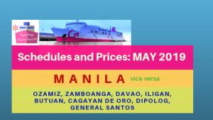 2go may 2019 schedules mindanao