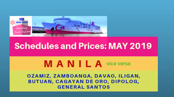 2go may 2019 schedules mindanao