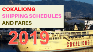 Cokaliong Shipping schedules 2019