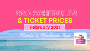 2go fares and schedules 2021