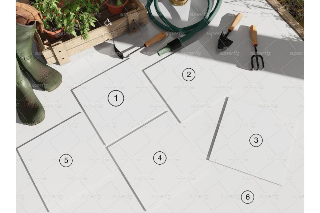 square ceramic tile mockup