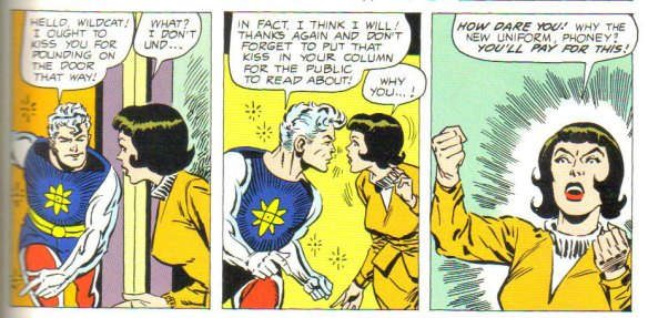 Captain Atom and the vigorous & venomous Abby Ladd!
