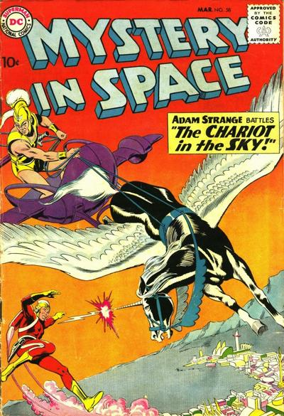 Mystery in Space #58 with Adam vs. Roman Gods!