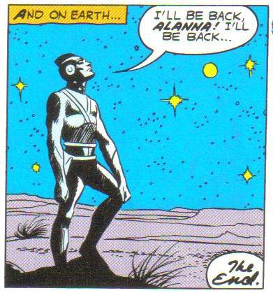 Adam Strange back on Earth