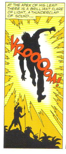 Adam Strange hit by his very first Zeta Beam!