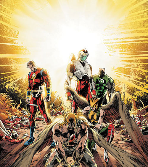 The cover of Rann-Thanagar War #6