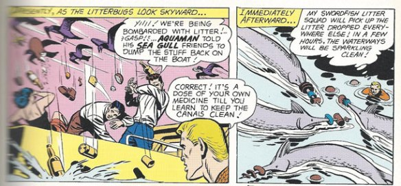 Aquaman's Sea Police put a stop to littering!