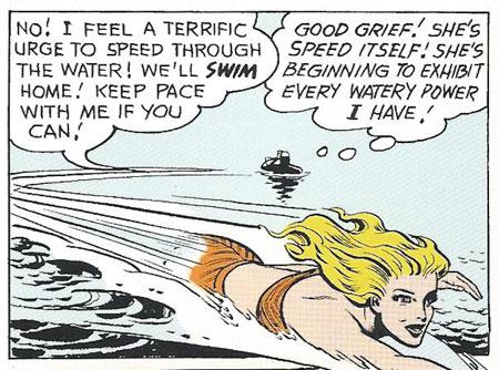 Aquagirl swims fast!