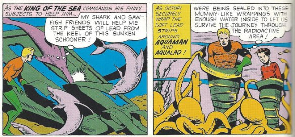 Aquaman and Aqualad seal themselves off from deadly radiation
