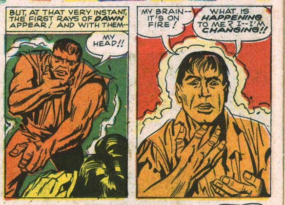 Hulk transforms back to Banner!