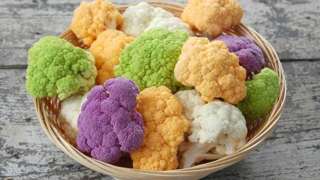 is colored cauliflower healthier