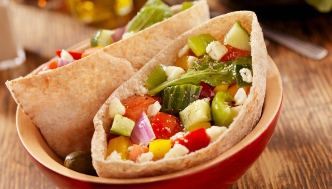 roasted vegetable pita