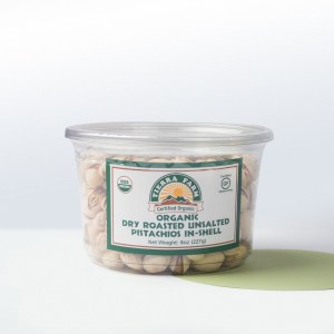 Tierra Farm-Organic Dry Roasted UnsaltedPistachios In Shell