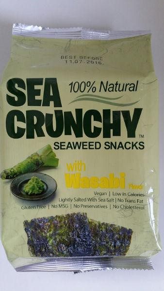 Sea Crunchy Snacks Wasabi 10gr