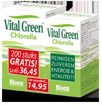 Vital Green Chlorella 600+200 Gratis Capsules