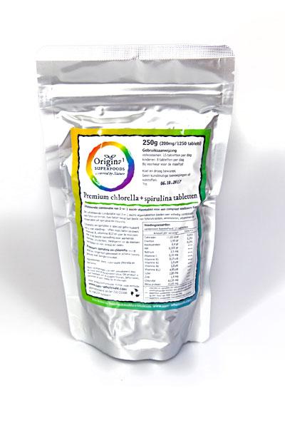 Original Superfoods Chlorella Spirulina 50-50 250 Gram gezond?