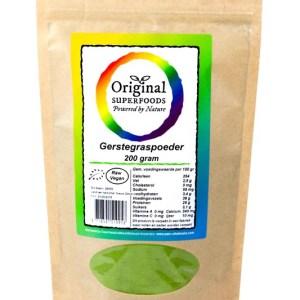 Original Superfoods Biologische Gerstegras Poeder 100 Gram