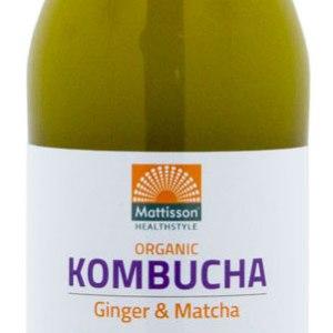 Mattisson HealthStyle Kombucha Ginger & Matcha Drink