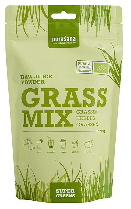 Purasana Grassmix Raw Juice Powder